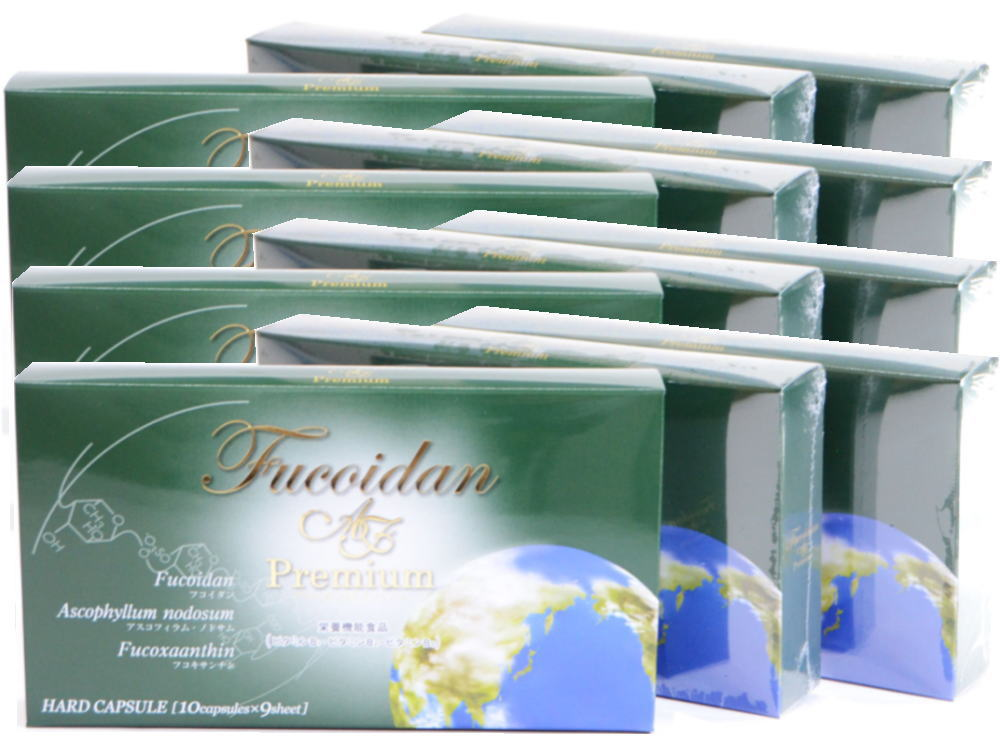 Fucoidan AF Premium Set of 12 boxes (1080 capsules)